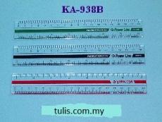 """POWERLINE PLASTIC RULER KA-938B 7"""""""