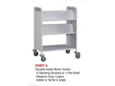 Double Sided Book Trolley DSBT-A
