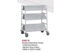 Double Sided Book Trolley DSBT-B