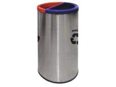 Stainless Steel Litter 2 in 1 Recycle Bin