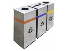 Stainless Steel Square Recycle Bin