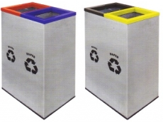 Stainless Steel Rectangular 2 in1 Recycle Bin