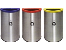 Stainless Steel Semi Round Recycle Bin