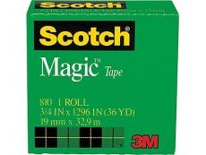"""SCOTCH MAGIC TAPE 3M-810 3/4""""X36"""