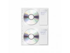 CD PROTECTOR POCKET WITH 2 HOLES 100PC/PKT CD-P-2R