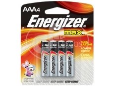 ENERGIZER BATTERY E92-BP4 Size AAA (4'S)