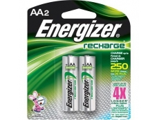 ENERGIZER RECHARGEABLE BATTERY NH15BP2 2500mAH AA (2'S)