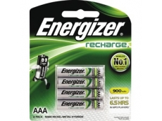 ENERGIZER RECHARGEABLE BATTERY NH12BP4 900mAH AAA (4)