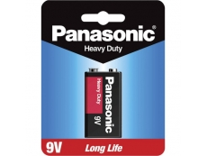 PANASONIC  HEAVYDUTY BATTERY BTR-PA-9V-SH 9V BATTERY