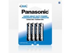 PANASONIC  HEAVYDUTY  BATTERY BTR-PA-C-HD SIZE AAA (4's)