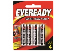 EVEREADY SUPER HEAVY DUTY 1215-BP4 BATTERY SIZE AA (4's)