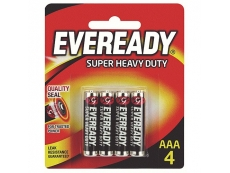 EVEREADY SUPER HEAVY DUTY 1212-BP4 BATTERY SIZE AAA (4's) 20