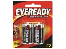 EVEREADY SUPER HEAVY DUTY BATTERY 1235-BP2 SIZE C 2'S