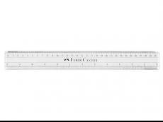 FABER-CASTELL 30CM RULER PLASTIC TRANS & WHITE 178330