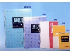 CROWN SPIRAL NOTE BOOK 201 A7 (73X105)MM