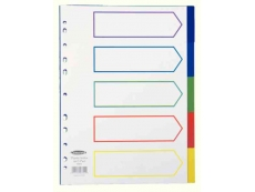 DURABLE PP INDEX DIVIDER 1-5