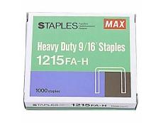 """MAX HEAVY DUTY STAPLES 9/16"""" 1215 FA-H"""