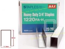 """MAX HEAVY DUTY STAPLES 3/4"""" 1220 FA-H"""