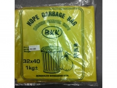 "GARBAGE BAG  / BAG SAMPAH 30""X40""  YELLOW HEAVY DUTY"