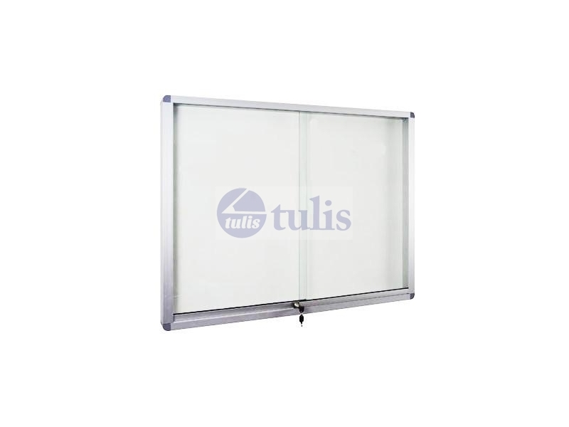 Whiteboard Aluminium Frame Cabinet With Lock Magnetic