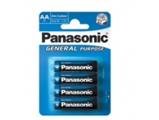 Panasonic Zinc Carbon AA/R6 Battery General Purpose (GP) (4's))