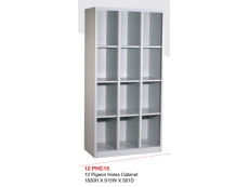 12 Pigeon Holes Cabinet PHC-15  1830H x 915W x 381D