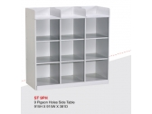 9 Pigeon Hole Cabinet Side Cabinet ST 6PH 915H x 915W x 381D