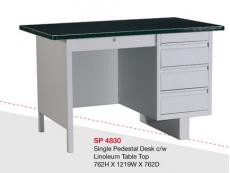 Steel Desk SP4830 c/w Linoleum Table Top
