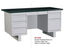 Steel Desk DP6030 Double Pedestal c/w Linoleum Table Top