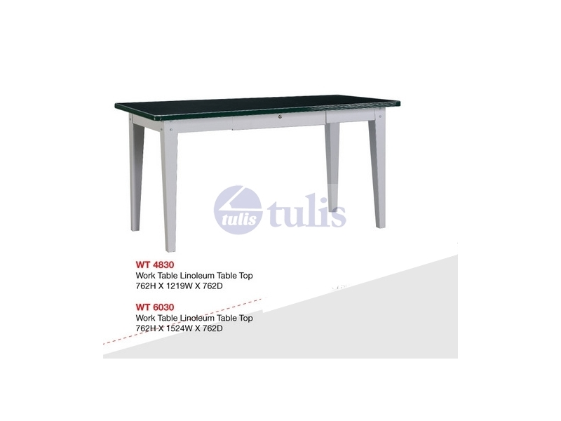 work table top linoleum largest office supplies online store in malaysia. Black Bedroom Furniture Sets. Home Design Ideas