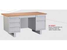 Steel Desk DP6030 Double Pedestal c/w ChipboardTable Top