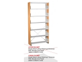 Library Shelving Single Sided- Wooden End Panel