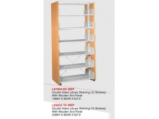 Library Shelving Double Sided- Wooden End Panel