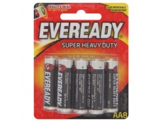 EVEREADY SUPER HEAVY DUTY BATTERY SIZE AA (8's)