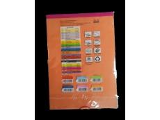 KB Product A4 PAPER 80GSM MIX COLOR EUROPEAN  (30 SHEET)