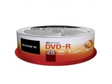 Sony DVD-R in Spindle - 10pcs