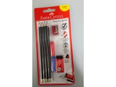 FABER CASTELL BASIC EXAM SET TRI-GRIP 2B X 4 STATIONERY SET 21 21 41