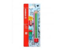 SCHWAN STABILO PENCIL 2B TRIO + JUMBO 3s 9 (SC-364/2B-BL3)