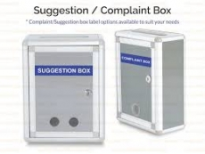 SUGGESTION/COMPLAINT BOX (L) 260LX340HX130W(MM) WB615
