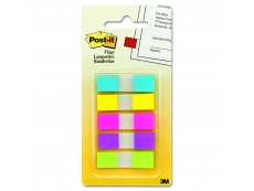 "POST-IT FLAGS 683-5CF  ASSORTED COLOURS INDEX 0.47""X1.7"""