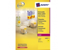 Avery High Visibilty and Promotional Coloured Labels